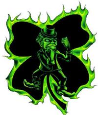Fighting Irish 4 Leaf Clover Decal / Sticker