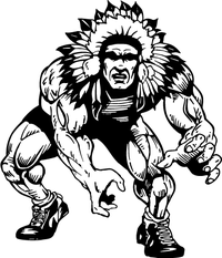 Wrestling Chiefs Mascot Decal / Sticker