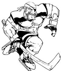 Pirates Hockey Mascot Decal / Sticker