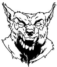 Wolves Mascot Decal / Sticker