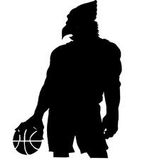 Basketball Cardinals Mascot Decal / Sticker 3