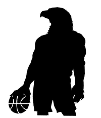 Basketball Eagles Mascot Decal / Sticker 3