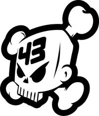 Ken Block 43 Skull Decal / Sticker 07