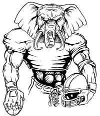 Football Elephants Mascot Decal / Sticker 05