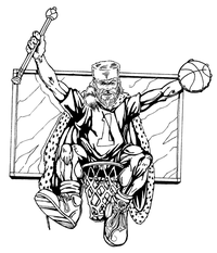 Basketball Frontiersman Mascot Decal / Sticker 1