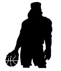 Basketball Frontiersman Mascot Decal / Sticker 2