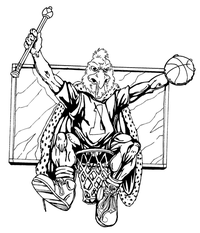 Basketball Gamecocks Mascot Decal / Sticker 1