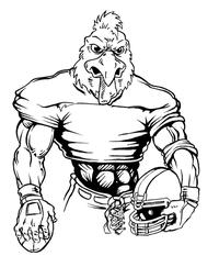 Football Gamecocks Mascot Decal / Sticker 5