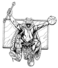 Basketball Gators Mascot Decal / Sticker 2