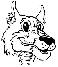 Huskies Mascot Decal / Sticker 1