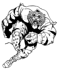 Football Tigers Mascot Decal / Sticker 6