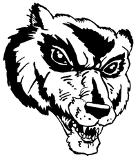 Wolverines / Badgers Mascot Decal / Sticker 6