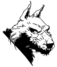 Wolves Mascot Decal / Sticker 9