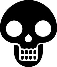 Skull Decal / Sticker 24