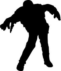 Walking Zombie Decal / Sticker 08