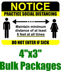 "BULK 4x3"" Practice Social Distancing Decal / Sticker 02"