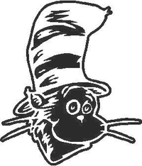 Cat in the Hat Decal / Sticker 03