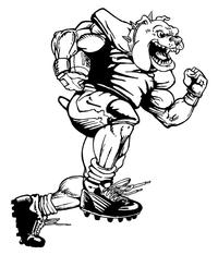 Football Bulldog Mascot Decal / Sticker 02