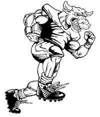 Football Bull Mascot Decal / Sticker 02