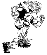 Football Comets Mascot Decal / Sticker 02