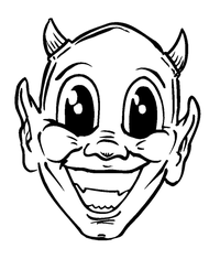 Devils Mascot Decal / Sticker 1