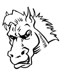 Horse Mascot Head Decal / Sticker 5