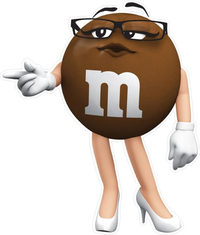 Ms. Brown M&M Decal / Sticker 27