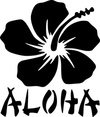 Aloha Flower Decal / Sticker 04