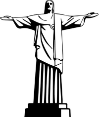 Jesus Statue Decal / Sticker 01