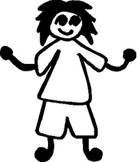 Shorts Girl Stick Figure Decal / Sticker 02