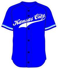 00 Royal Blue Kansas City Jersey Decal / Sticker