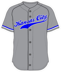 00 Gray Kansas City Jersey Decal / Sticker