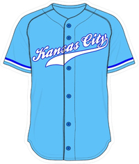 00 Powder Blue Kansas City Jersey Decal / Sticker