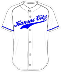 00 White Kansas City Jersey Decal / Sticker