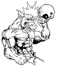 Football Bull Mascot Decal / Sticker 08