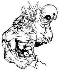 Football Vikings Mascot Decal / Sticker 3