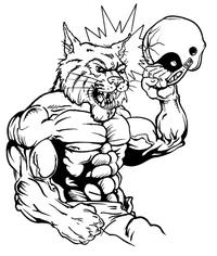 Football Wildcats Mascot Decal / Sticker 3