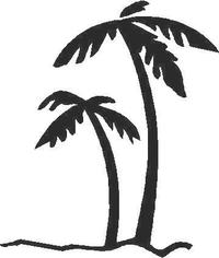 Palm Tree Decal / Sticker 02