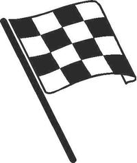 Checkered Flag Decal / Sticker 05