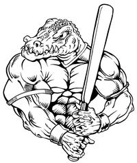 Baseball Gators Mascot Decal / Sticker 7
