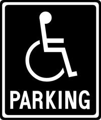 Handicapped Parking Decal / Sticker 06