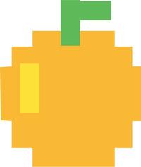 Pac-Man Orange Decal / Sticker 13