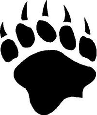 Bear Claw Print Decal / Sticker