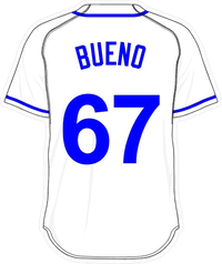 67 Francisley Bueno White Jersey Decal / Sticker