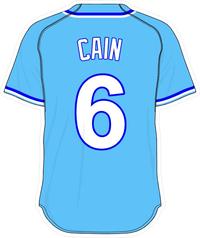 6 Lorenzo Cain Powder Blue Jersey Decal / Sticker