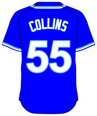 55 Tim Collins Royal Blue Jersey Decal / Sticker