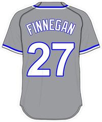 27 Brandon Finnegan Gray Jersey Decal / Sticker