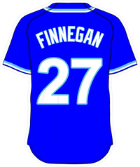 27 Brandon Finnegan Royal Blue Jersey Decal / Sticker