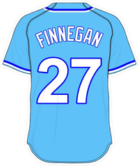 27 Brandon Finnegan Powder Blue Jersey Decal / Sticker