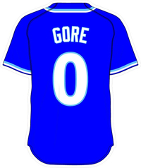 0 Terrance Gore Royal Blue Jersey Decal / Sticker